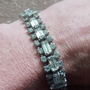 Vintage white sapphire tennis bracelet